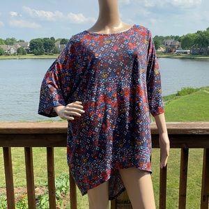 New LuLaRoe Irma Geometric Floral Tunic Top 3XL
